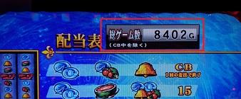 総ゲーム数8402G