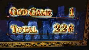 ゴッド凱旋 226枚獲得