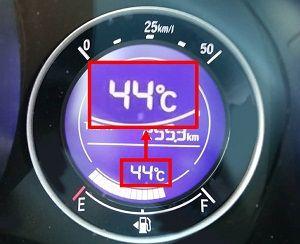 車内の気温