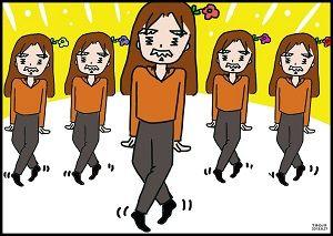 踊る イラスト