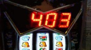 ボナ終了403枚獲得