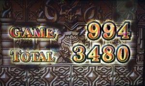 AT終了3480枚獲得