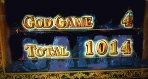 ゴッド凱旋1014枚獲得