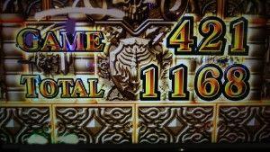 AT終了1168枚獲得