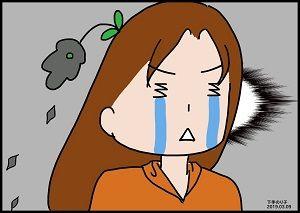 泣くイラスト